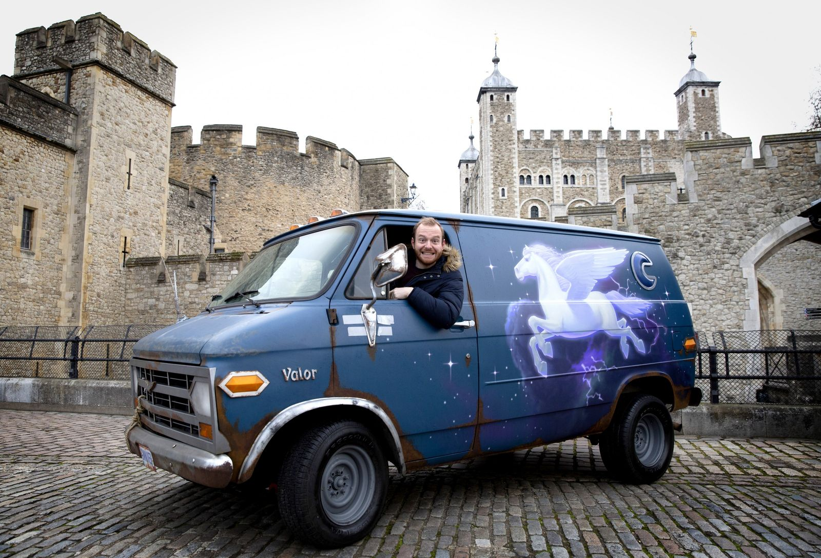 A replica of 'Guinevere', the van that features in the movie Onward, recently made a road ...