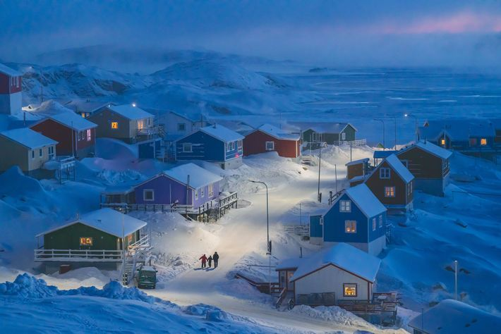 Upernavik is a fishing village on a tiny island in west Greenland. Historically, Greenlandic buildings were ...