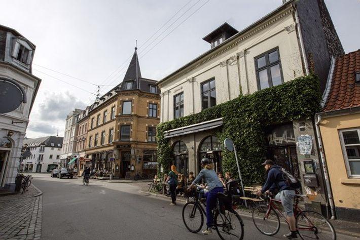 Aarhus's cycle-friendly streets.