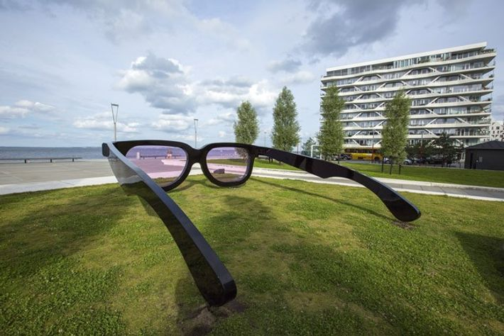 'Sea Pink' installation by Swiss artist Marc Moser.