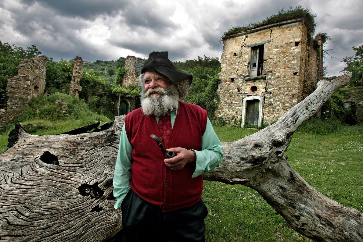 Giuseppe Spagnuolo is the last resident of Roscigno Vecchia in southern Italy. Most people left because ...