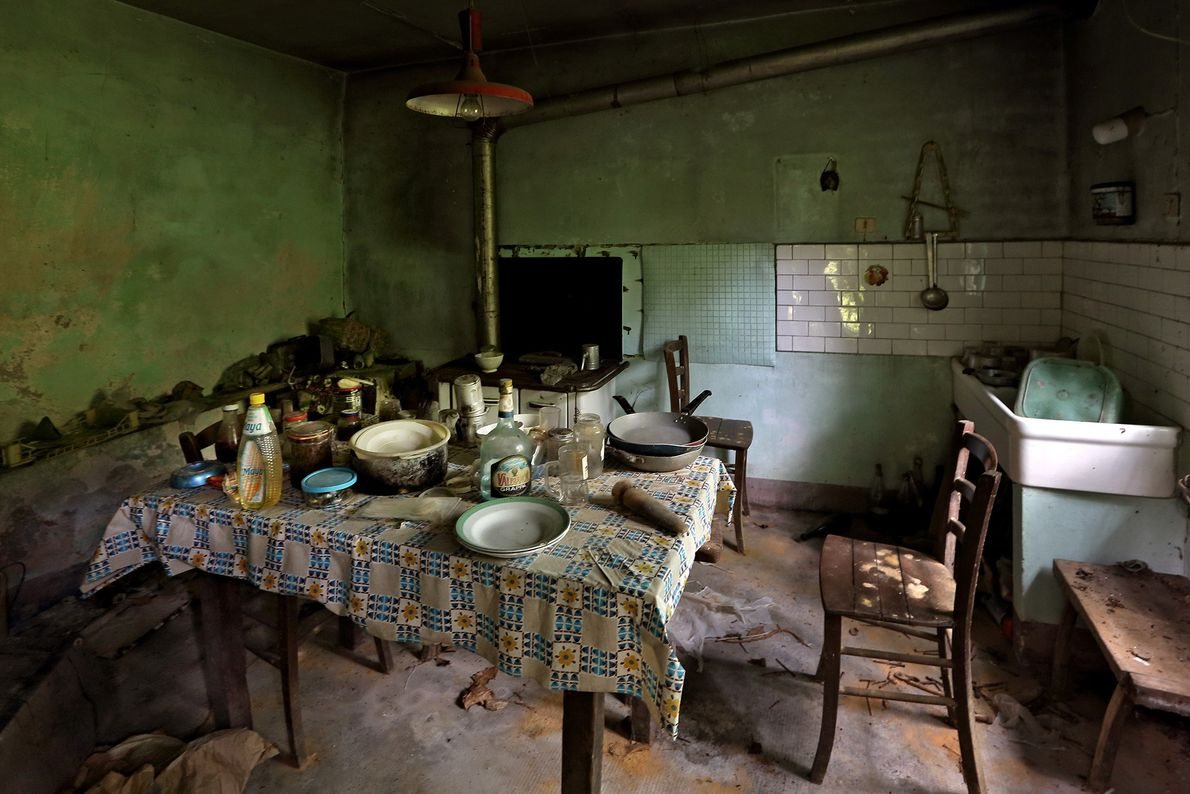 Items clutter a ghost house in the Piedmont region. Its last resident is believed to have ...