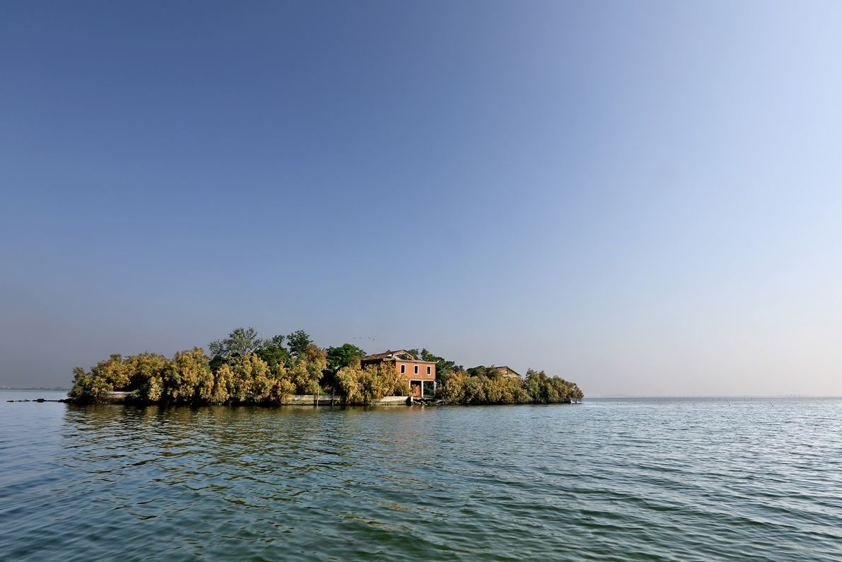This small island in the Venice Lagoon was once a navy radio station, later became private ...