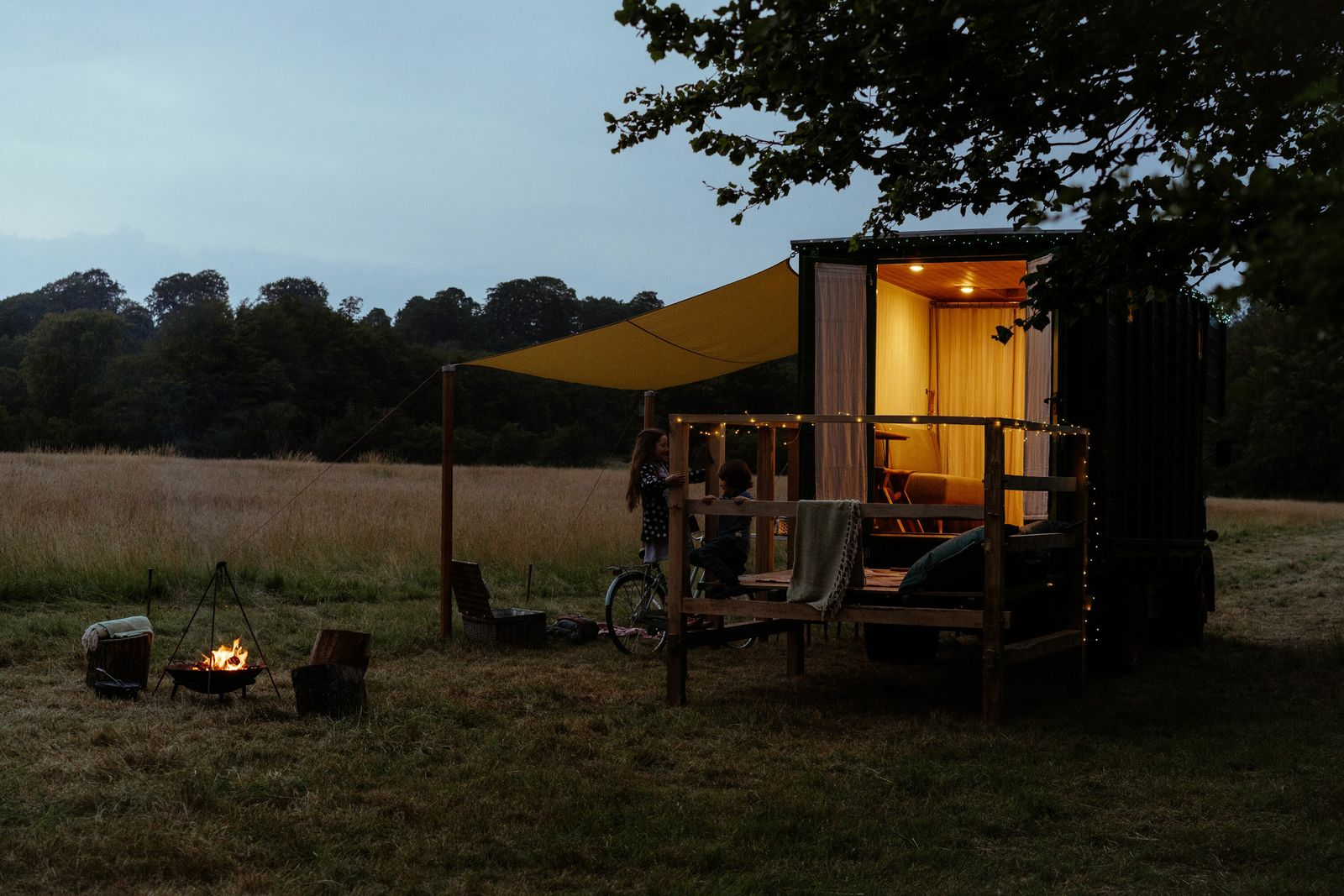 Abbeyfield Glamping's converted 1964 Bedford TK opened in August 2020, offering guests such luxuries as a ...