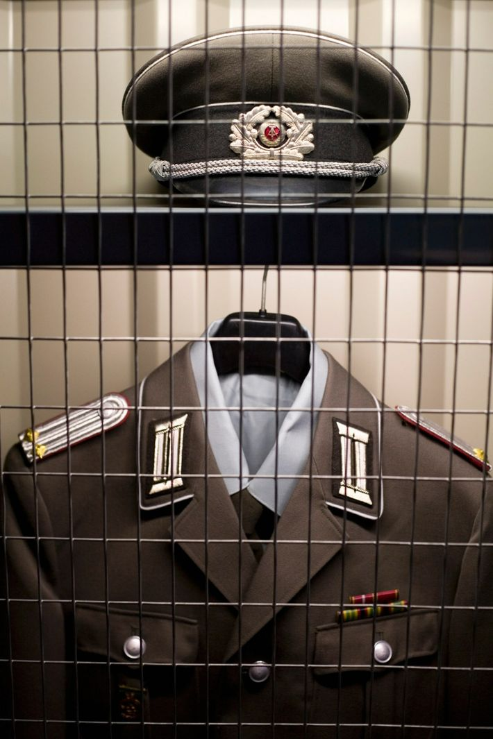 A uniform from the secret police of the German Democratic Republic