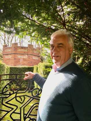 Maze designer Adrian Fisher at home in Dorset.