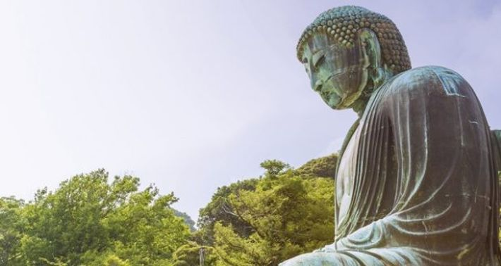 Kotokuin Temple, famous for its gigantic Great Buddha statue