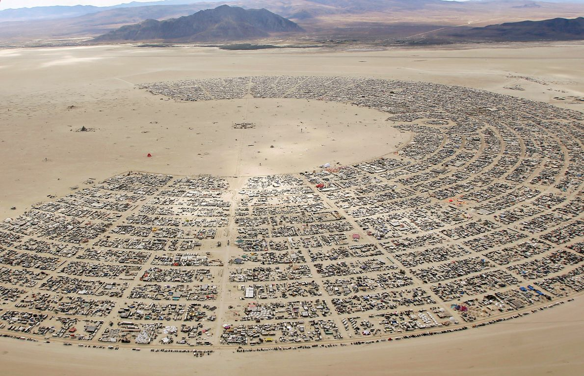Approximately 70,000 people from across the globe gathered for the 30th annual Burning Man in 2016 ...