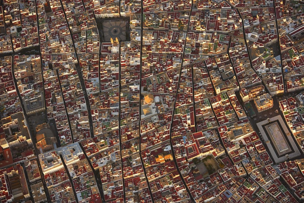 """""""The town of Cadiz, Spain seen from above is as fascinating as it is from ground ..."""