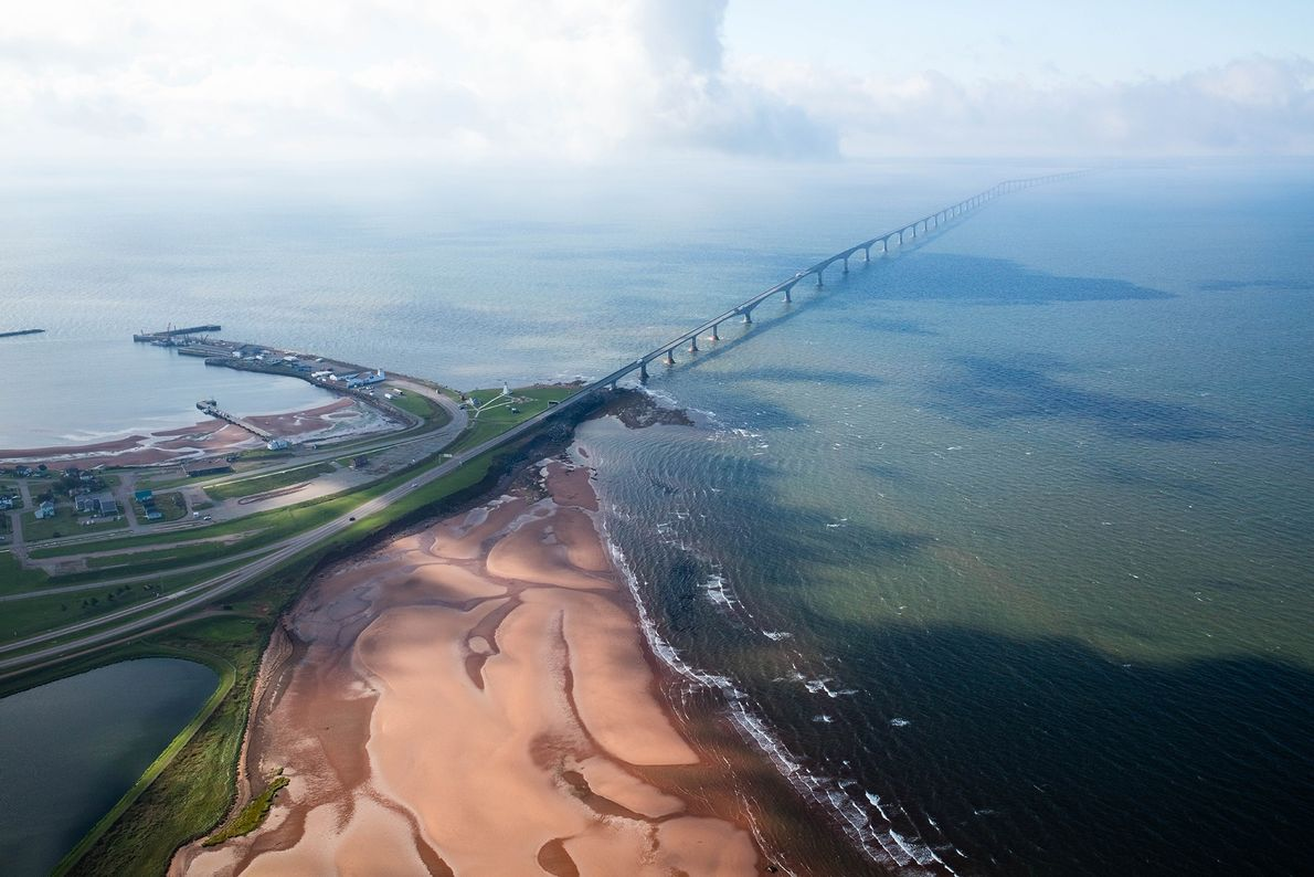 Confederation Bridge provides an eight-mile fixed link over the Northumberland Strait between Prince Edward Island and ...