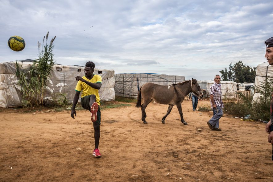 As he passes through a settlement of chabolas, a Spaniard in the southern province of Huelva ...