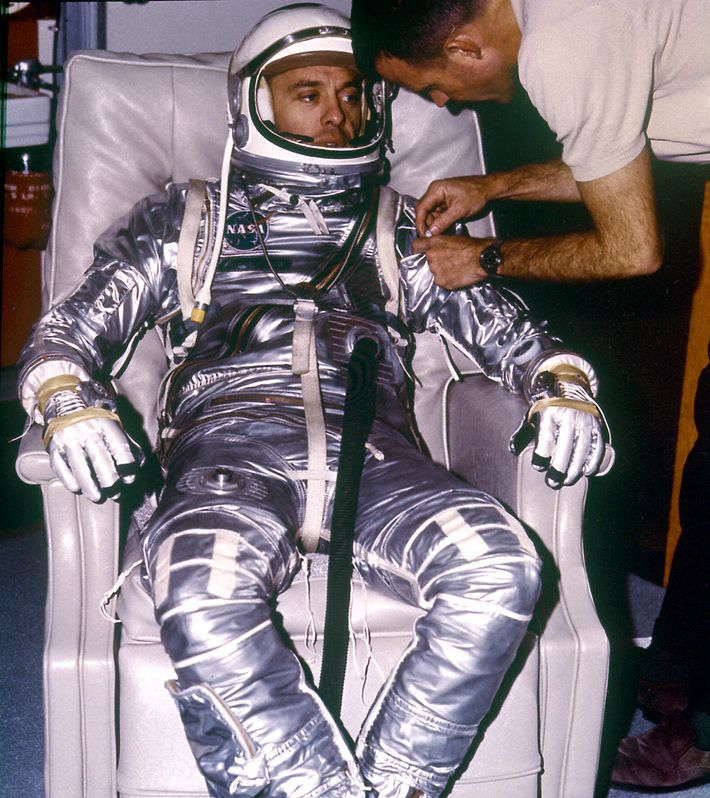 Alan Shepard is suited up for his MR-3 'Freedom 7' launch; May 5th, 1961. Although his flight was only ...
