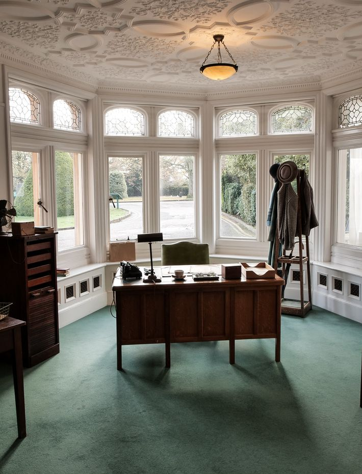 Alastair Denniston's office, at in the Bletchley Mansion. It was at this desk that Betty Webb ...
