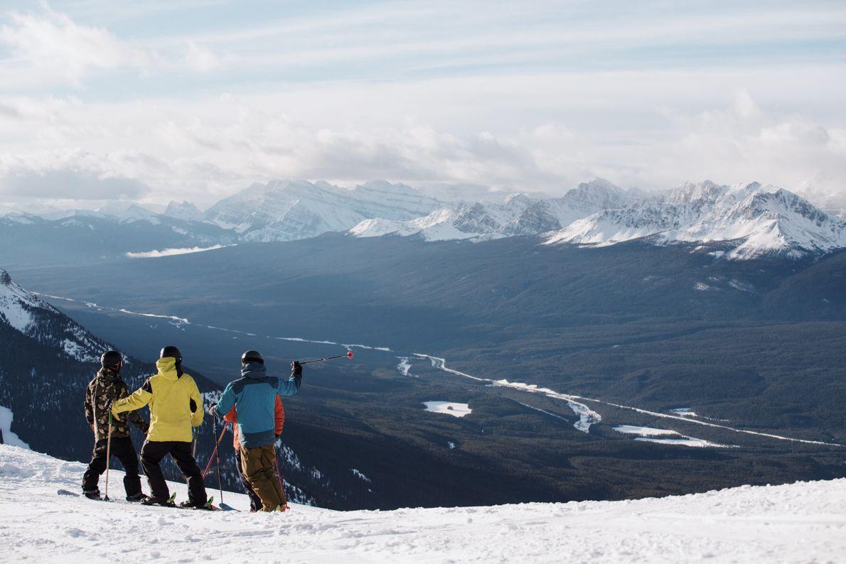 Ski or snowboard in Banff National Park, home to three world-class ski resorts.
