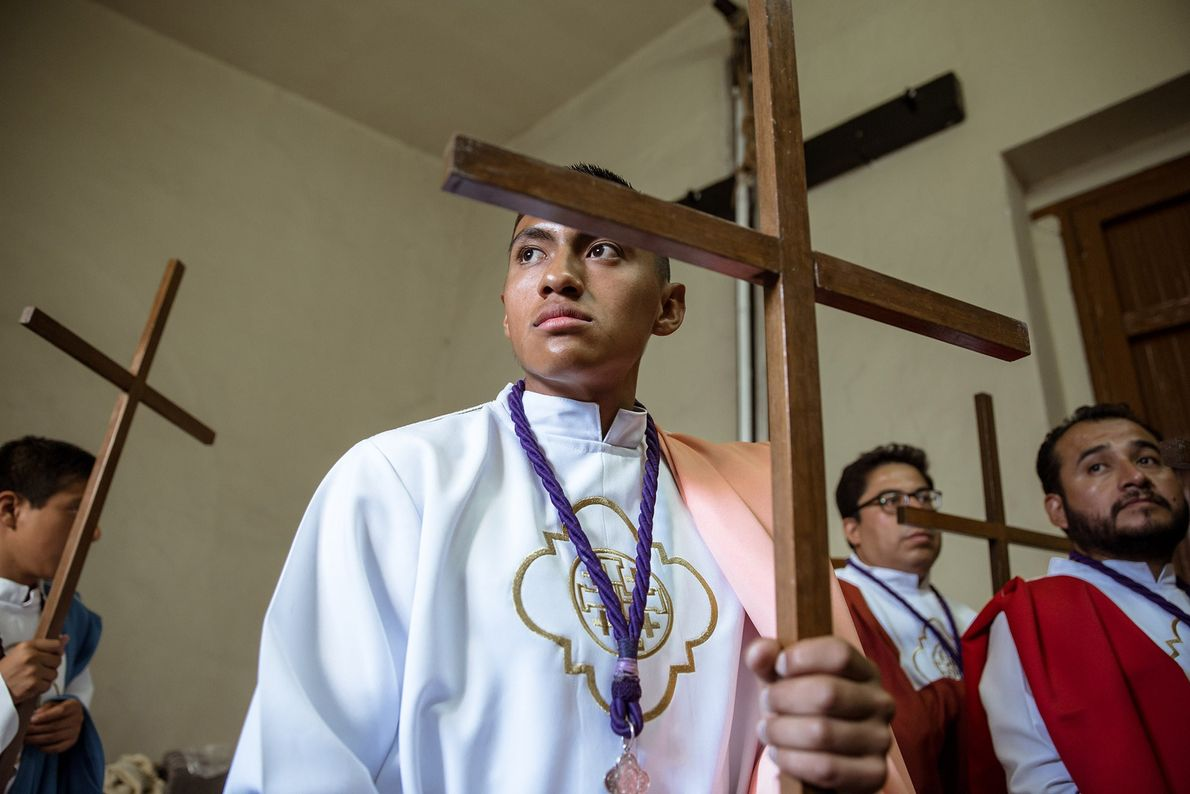 Brother Axel Ortega has been preparing for Holy Week since the beginning of the year.