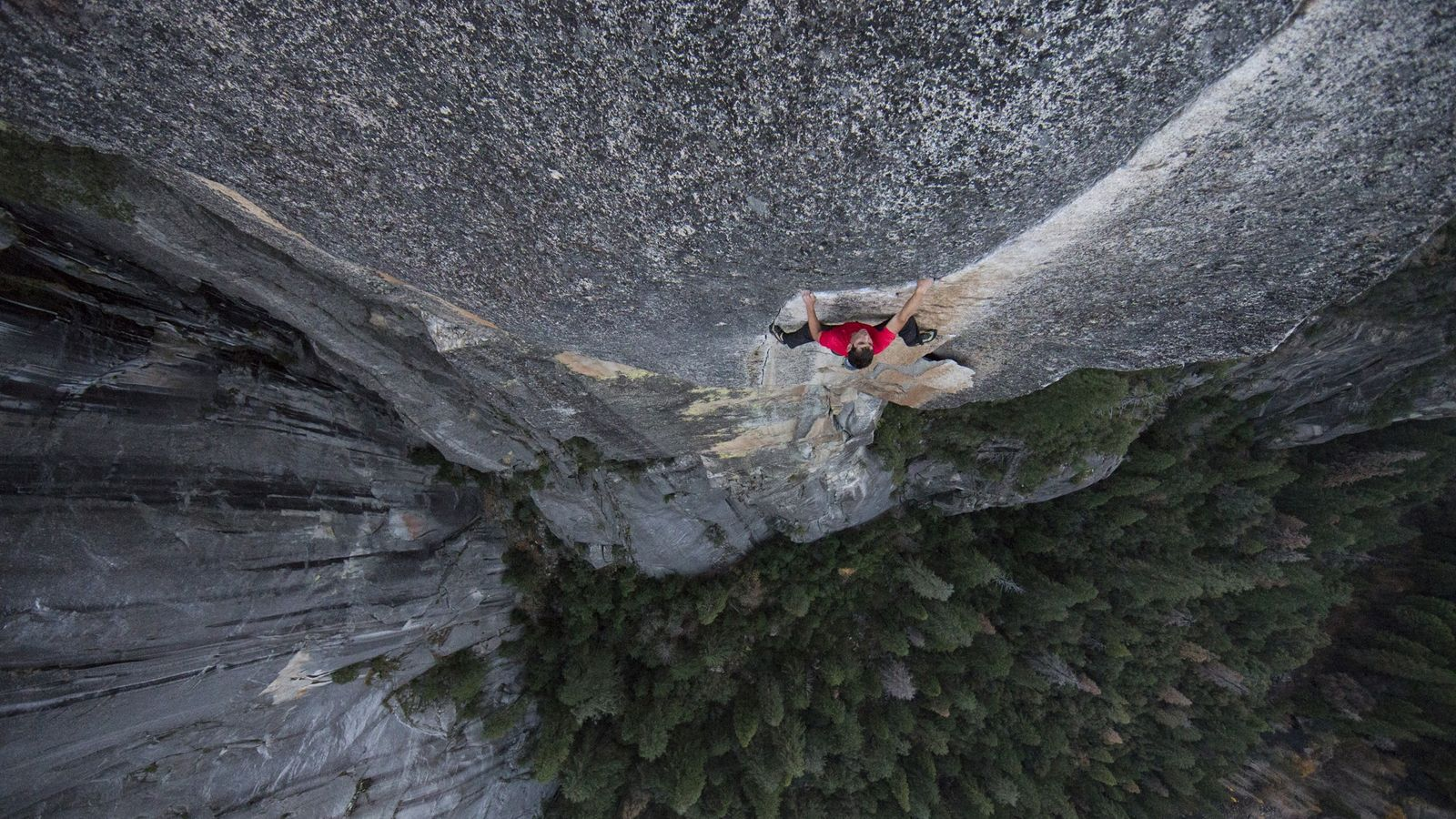 As part of his training, Honnold free soloed a Yosemite route called Excellent Adventure.