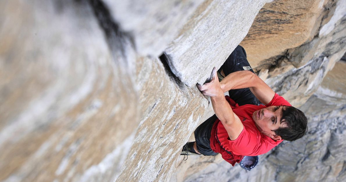 Alex Honnold climbs El Capitan without a rope or safety equipment, becoming the first person to ...