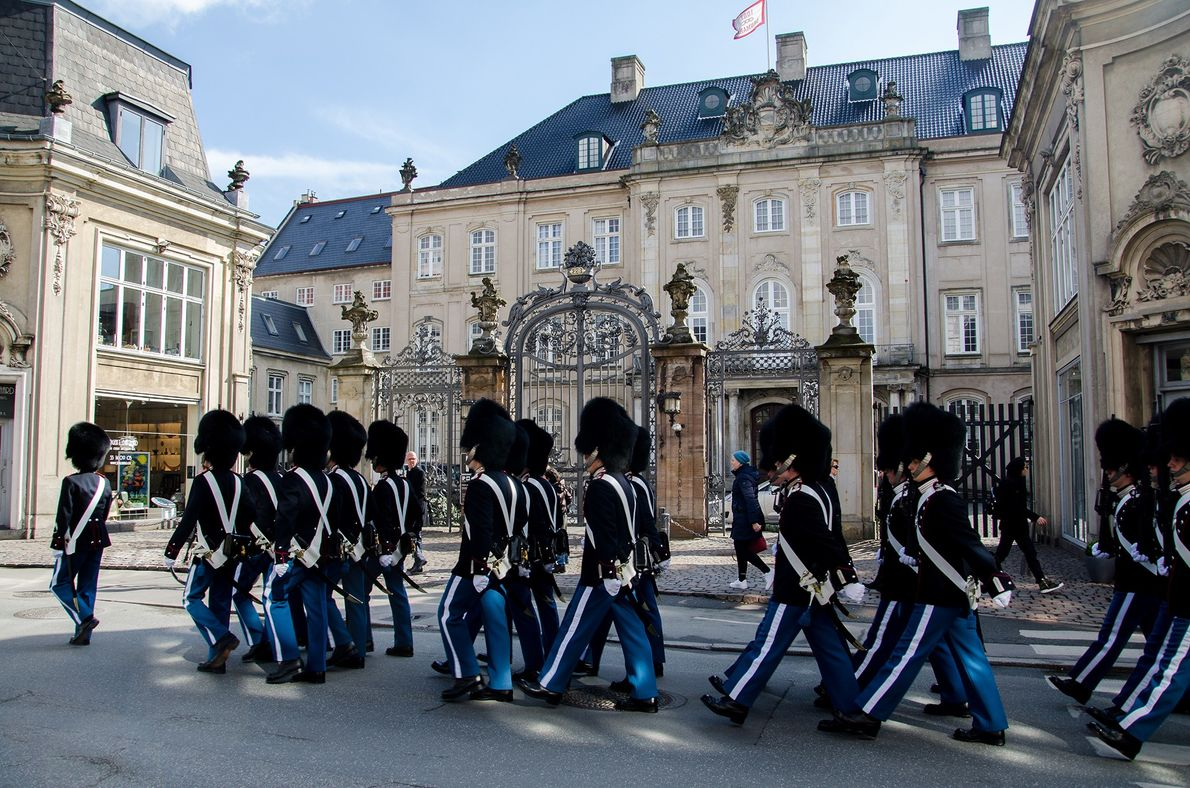 From Nyhavn you can take a five-minute walk to the Amalienborg Palace, home of the Danish ...