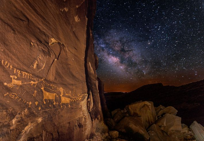 One treasure still inside Utah's Bears Ears monument is Procession Panel, a nearly 7-metre-long rock carving, ...