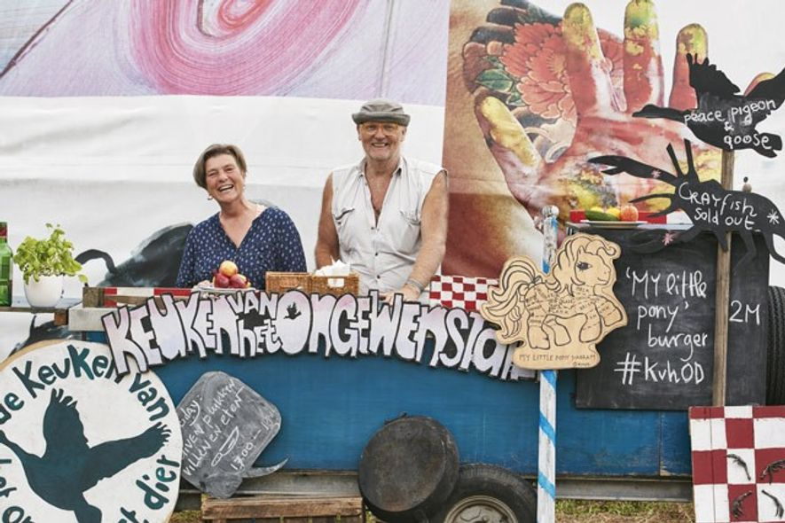 Rob Hagenouw and Nicolle Schatborn, owners of the Kitchen of the Unwanted Animal food van. Image: ...