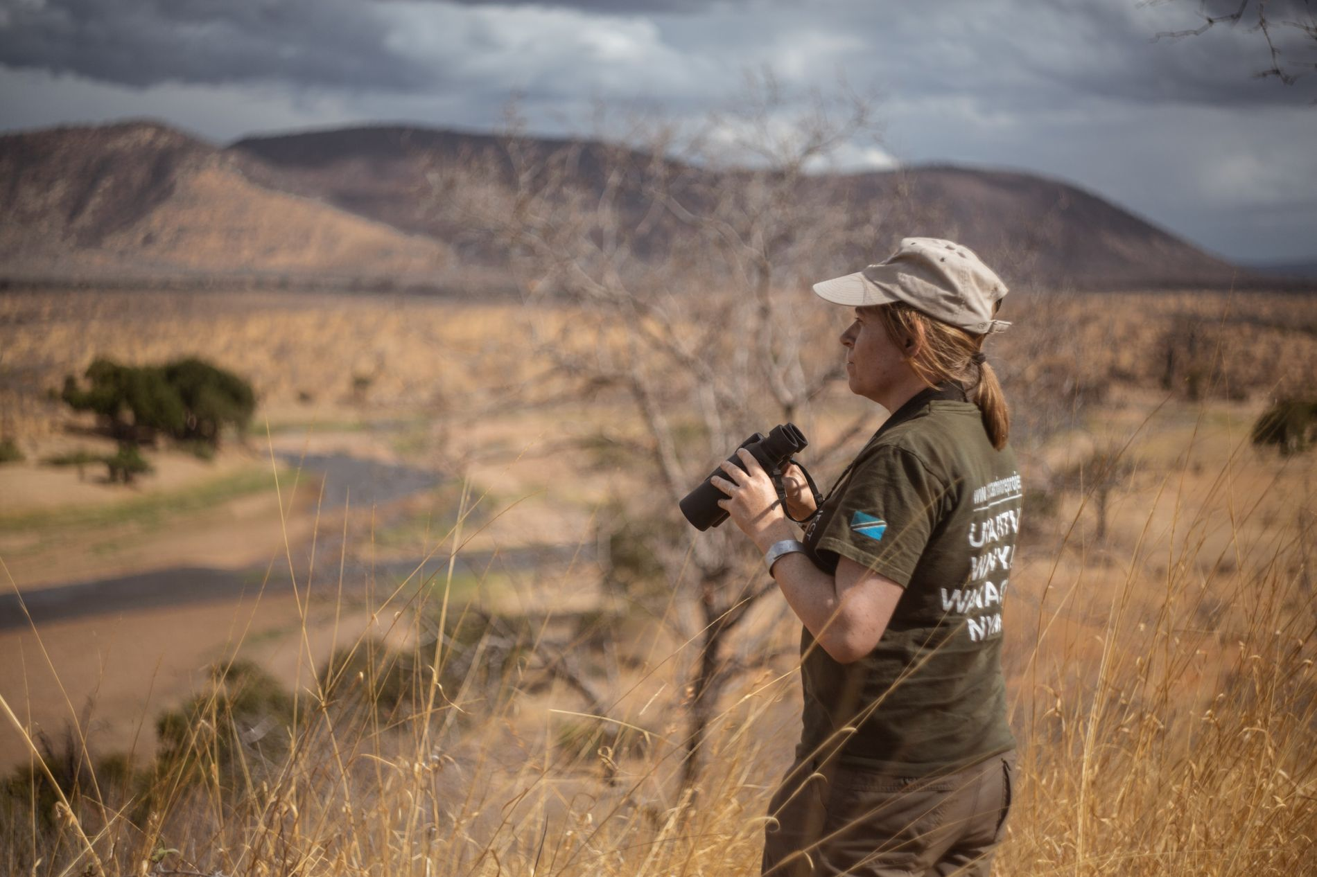 Amy Dickman in the field, Tanzania.