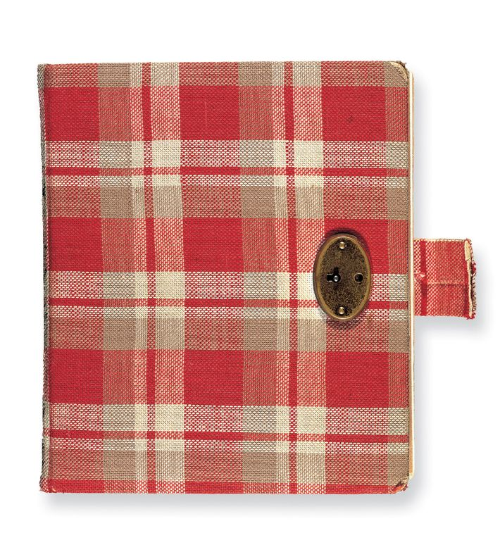 Anne Frank's first diary was a red-checkered journal that she kept between June 12 and December ...