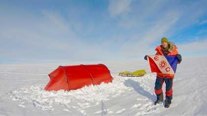 Explorer completes historic Antarctic trek