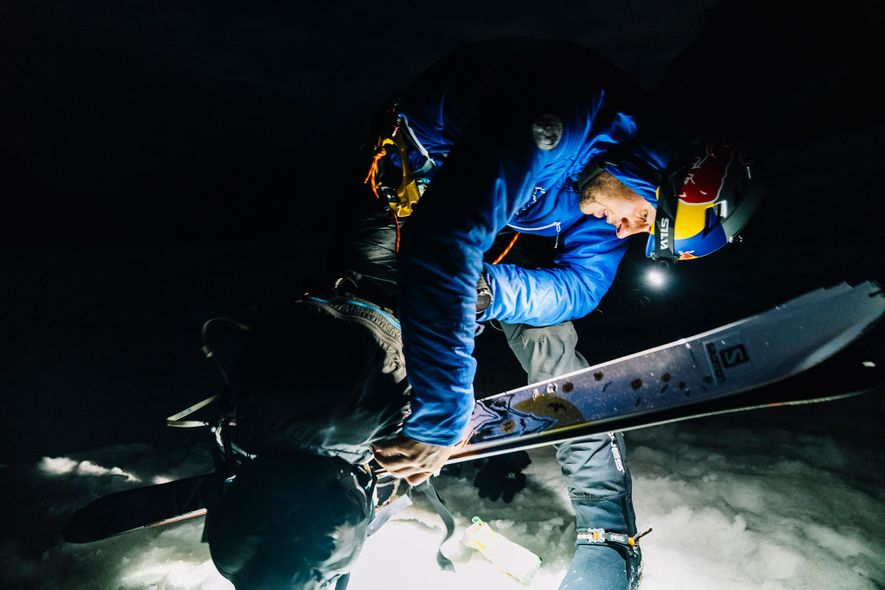 Bargiel started his push for the summit at 4:00 AM. Seven-and-a-half hours later he stood alone ...