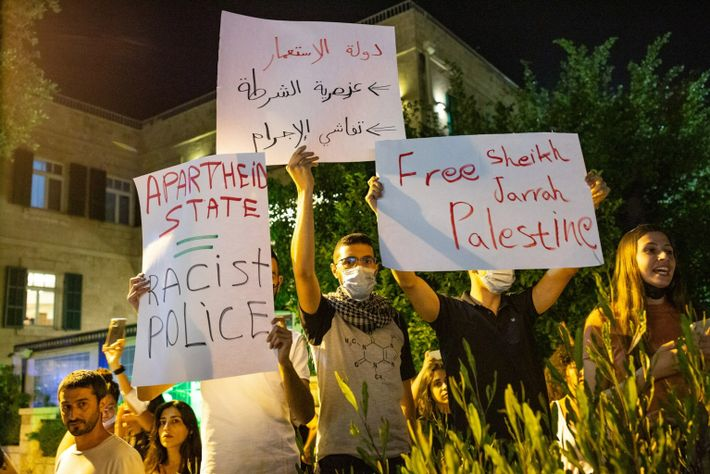 Palestinians Protest Against Israeli Actions In Jerusalem