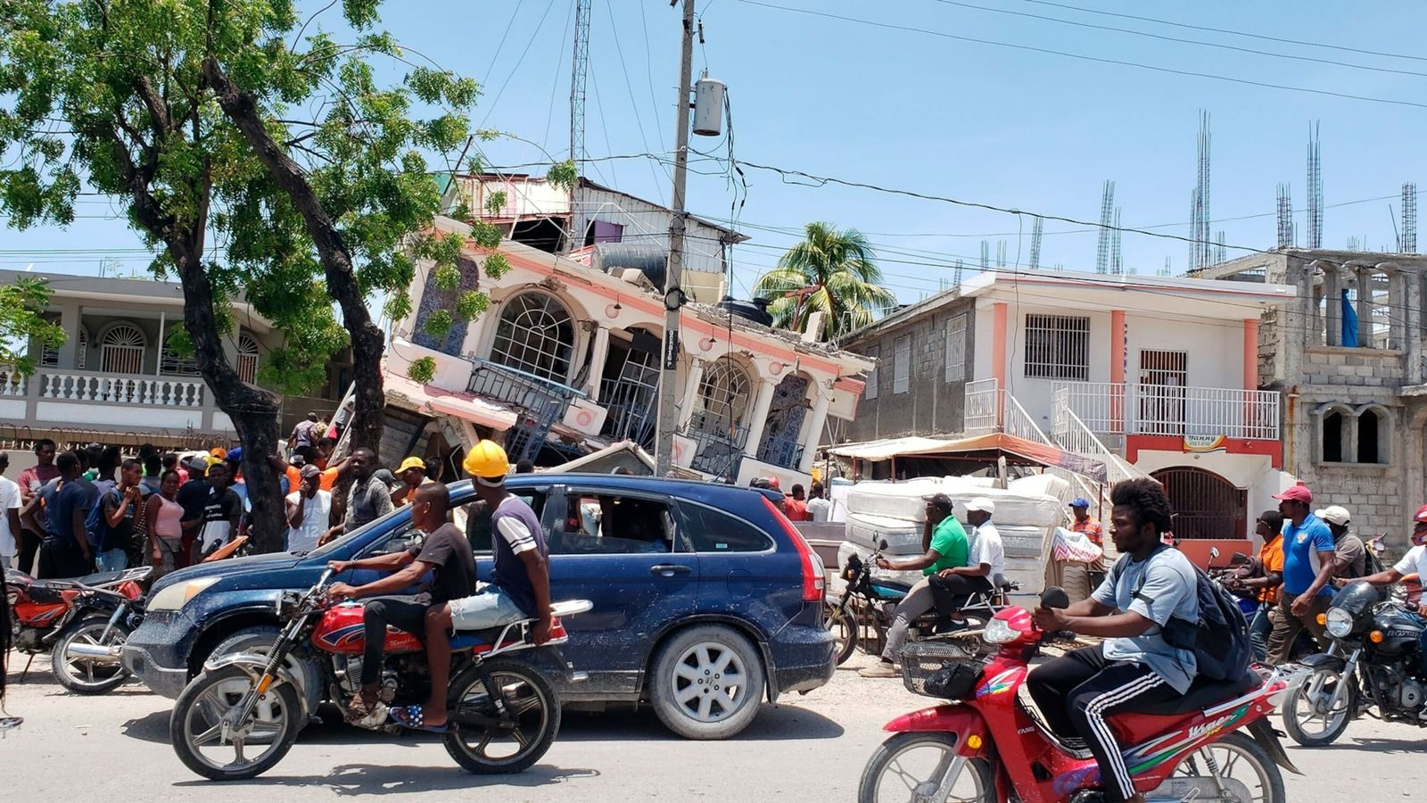 Shaking from the magnitude 7.2 earthquake crumbled houses and businesses in southwest Haiti, but the full ...