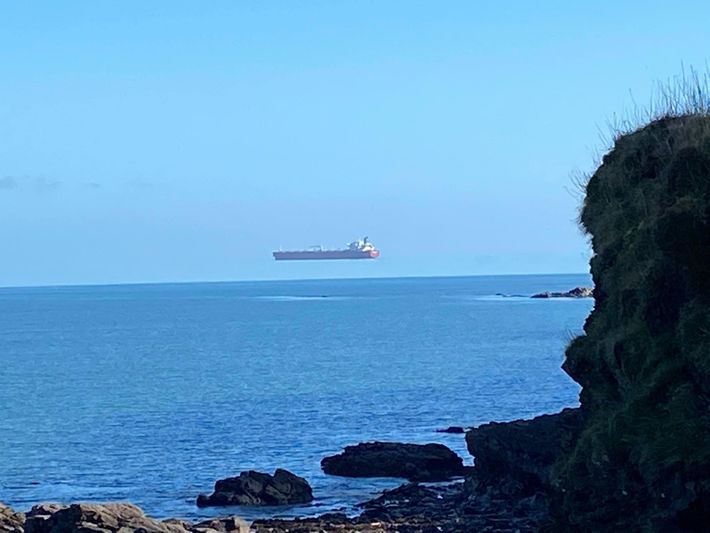 David Morris's image of a container ship off the coast of Cornwall as been attributed to ...