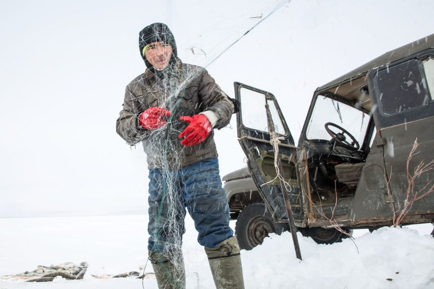 The fishing has improved dramatically over the past few years on the North Aral Sea, indicating ...