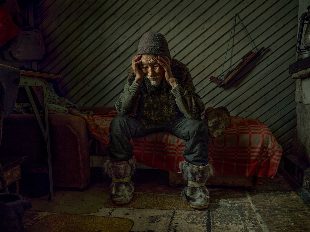 Nikolai Rovtin is lost in thought after speaking of his wife, who passed away last year. ...