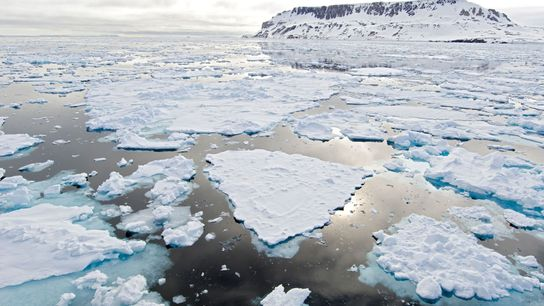 Arctic ice is getting thinner as the planet warms.
