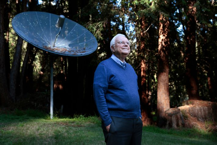 Frank Drake poses for a portrait at his home in Aptos, California, on February 27, 2015. ...