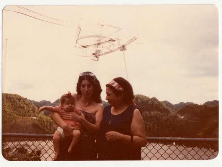 During Nadia's first trip to the observatory, her mother Amahl Drake (left), grandmother Adma Shakhashiri (right), ...