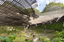 The main collecting dish at Arecibo Observatory is among the world's largest single-dish radio telescopes. A ...