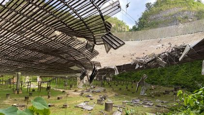 Iconic radio telescope in Puerto Rico is at risk of collapsing