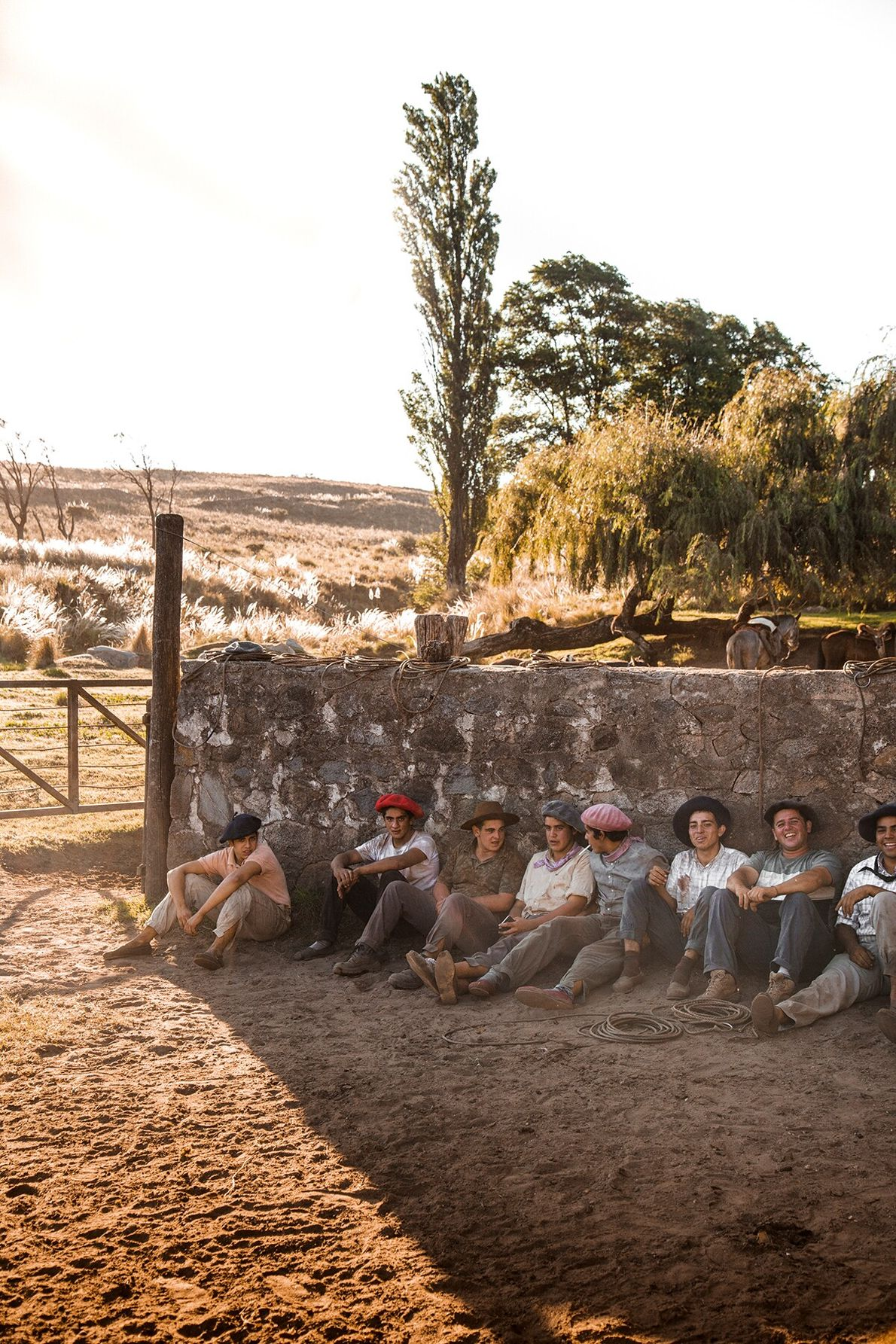 The yerra (branding festival) is held every summer. Cattle are driven in from the fields by ...