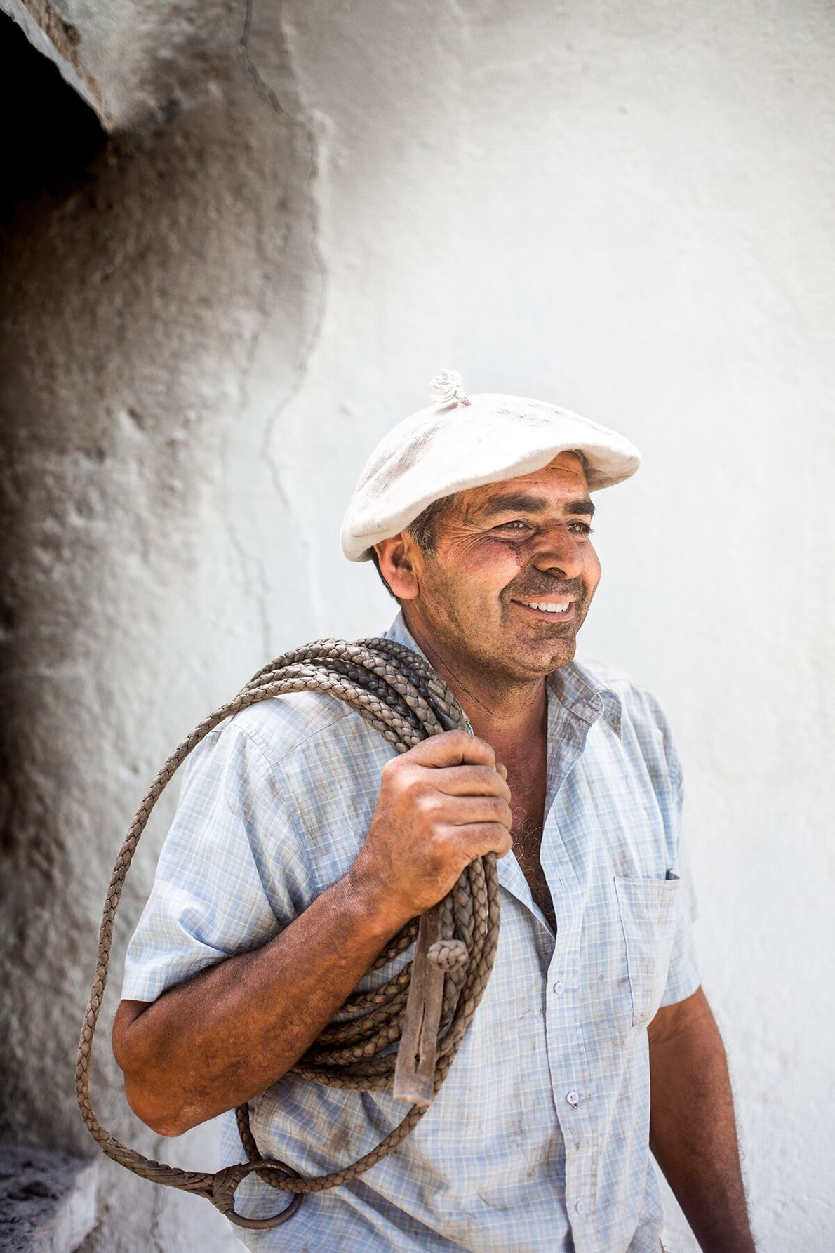 Working a lasso is one of the oldest arts of the gaucho. Headman Daniel Tulian has ...
