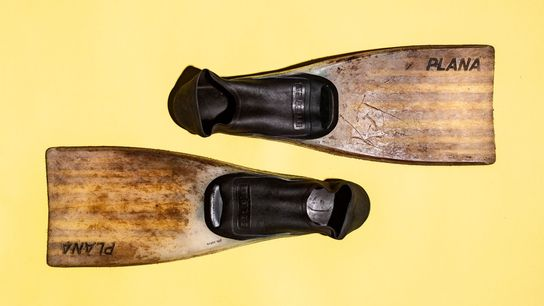Earle used these fins during some of the roughly 8,000 hours she's spent underwater.