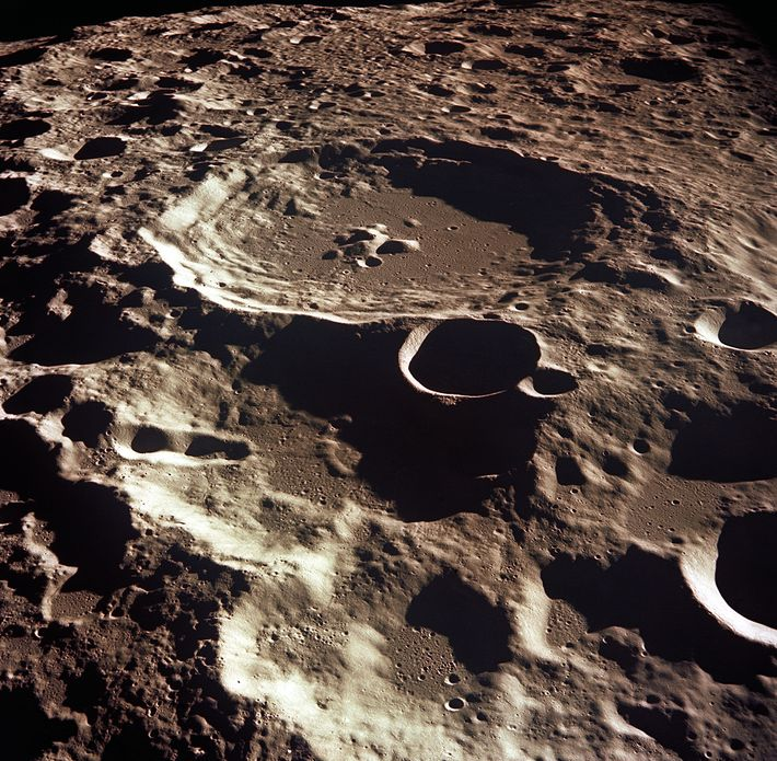 This crater, called Daedalus, has a diameter of about 80 kilometres. The Moon is vulnerable to ...