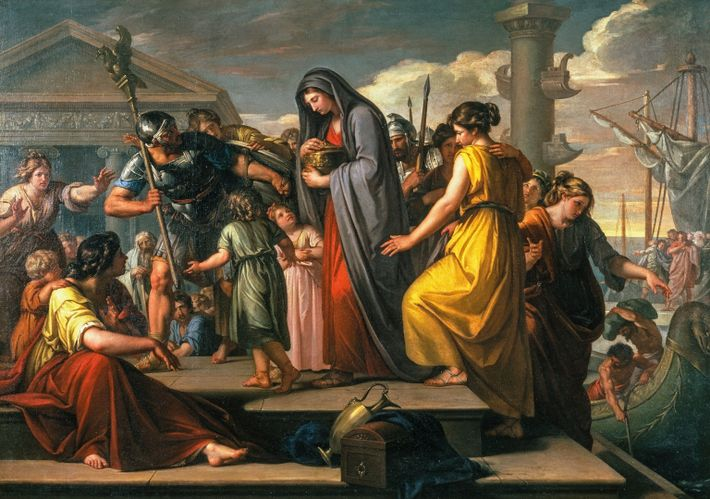 Agrippina [the Elder] landing at Brundisium with the ashes of Germanicus, by Gavin Hamilton, 1765-1772. Tate ...