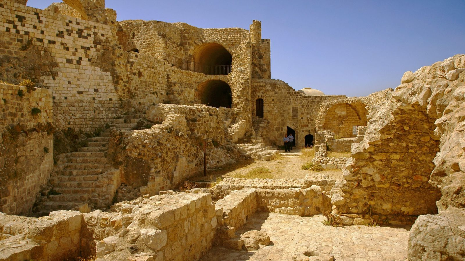 The ruins of the Nizari fortress of Masayf in Syria. The Nizari Ismailis, often referred by ...