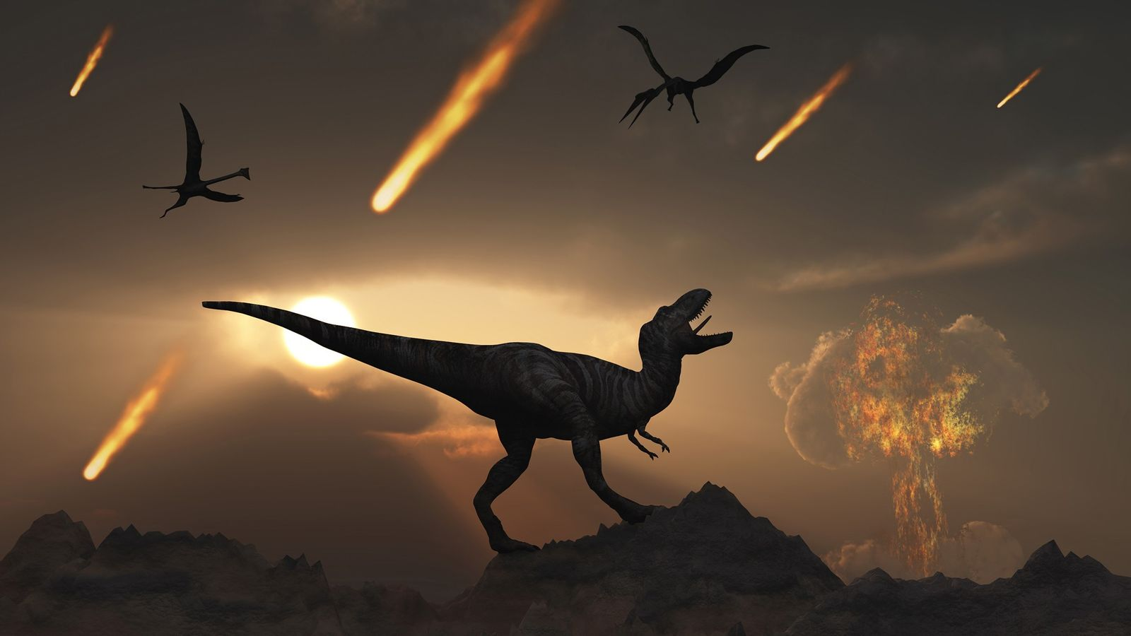 At the end of the Cretaceous period 66 million years ago, a giant asteroid impact at ...