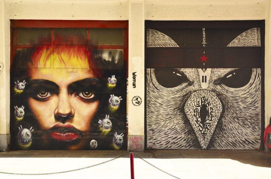 Street art in Kerameikos. Credit: John Malathronas