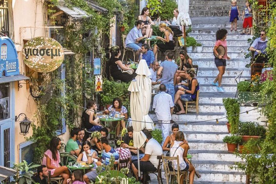 Diners in Plaka