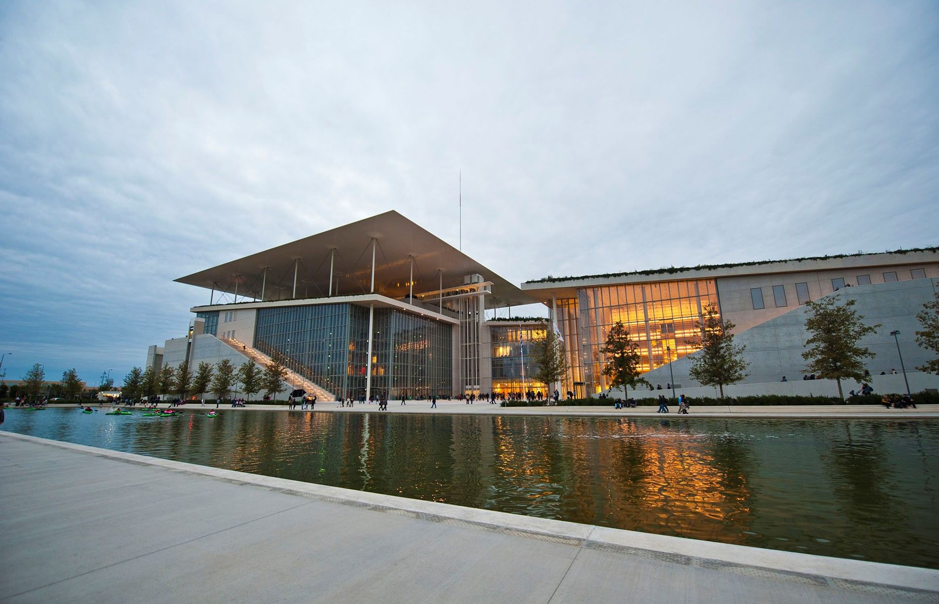 Situated next to the city's waterfront at Faliro Bay, the Stavros Niarchos Foundation Cultural Center houses ...