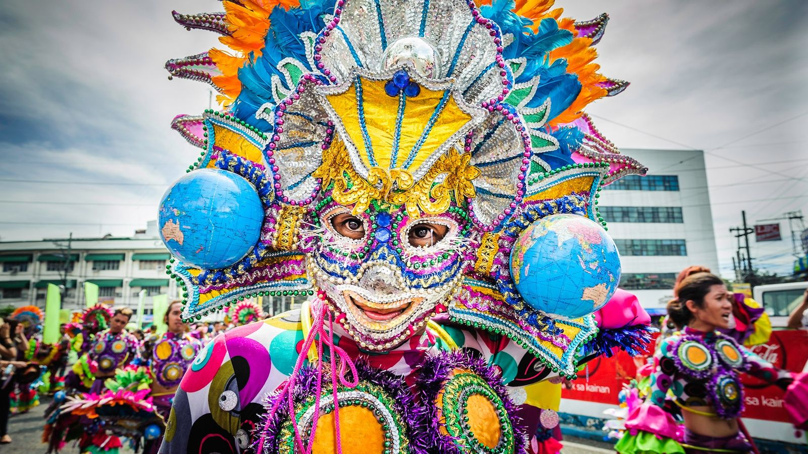 The island town of Kalibo in the Philippines turns into a Mardi Gras frenzy of sequined ...