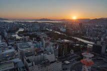 Ground zero in 1945, Hiroshima's Peace Memorial Park is now an island of green surrounded by ...